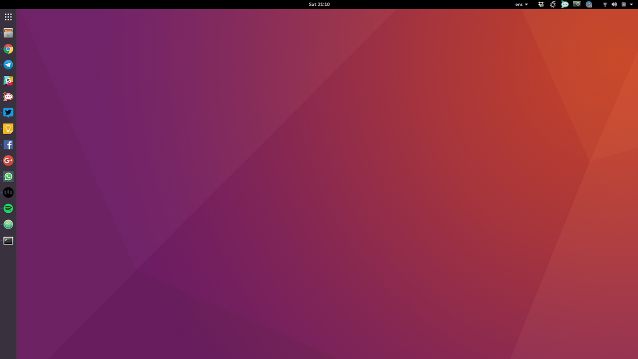My new Ubuntu GNOME Desktop