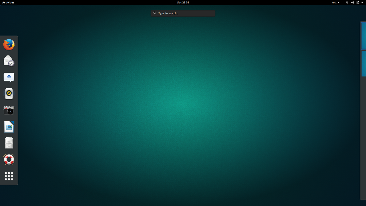 Default GNOME Desktop
