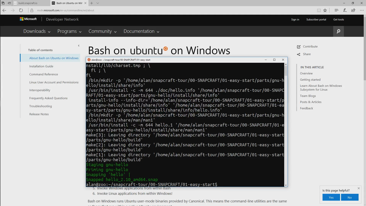 Building Apps for Linux without Linux | popey com blog