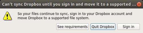 Dropbox says 'no'