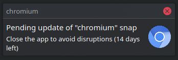 Chromium notification